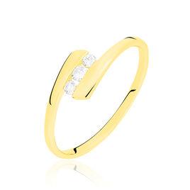 Bague Trilogie Or Jaune Diamant - Bagues avec pierre Femme | Histoire d'Or