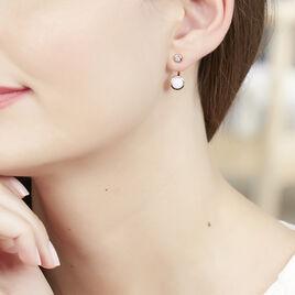 Bijoux D'oreilles Plaque Or Jaune Opale - Boucles d'oreilles fantaisie Femme   Histoire d'Or