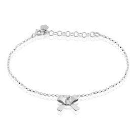 Bracelet Renelle Argent Blanc - Bracelets Papillon Femme | Histoire d'Or