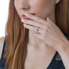 Bague Or Blanc Diamant Saphir - Bagues avec pierre Femme | Histoire d'Or