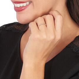 Bague Or Rose Elssa Et Diamant - Bagues avec pierre Femme | Histoire d'Or