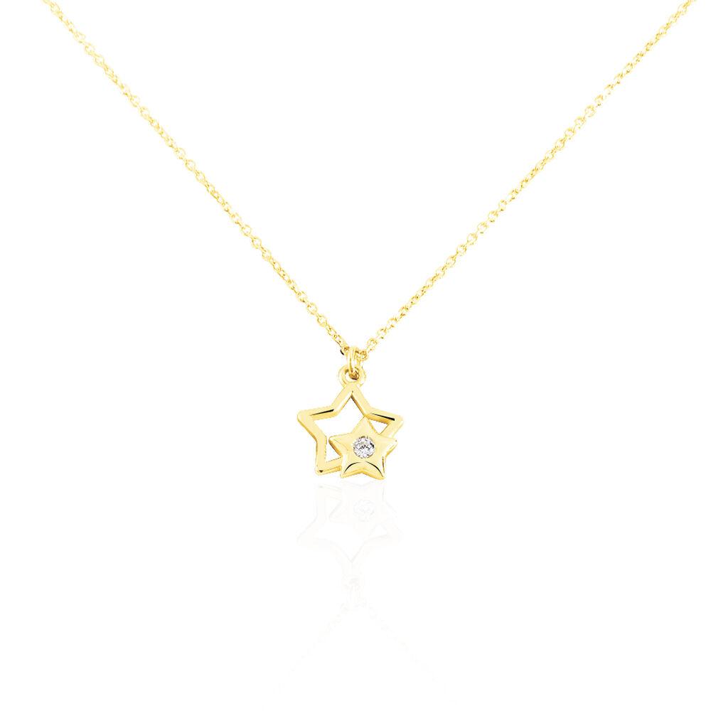 Collier Terentille Etoile Or Jaune Oxyde De Zirconium - Colliers Etoile Enfant | Histoire d'Or