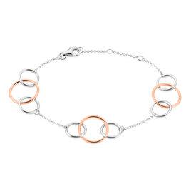 Bracelet Malha Argent Bicolore - Bracelets fantaisie Femme | Histoire d'Or