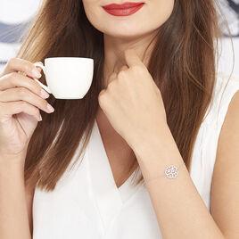 Bracelet Belambra Argent Blanc Oxyde De Zirconium - Bracelets fantaisie Femme | Histoire d'Or