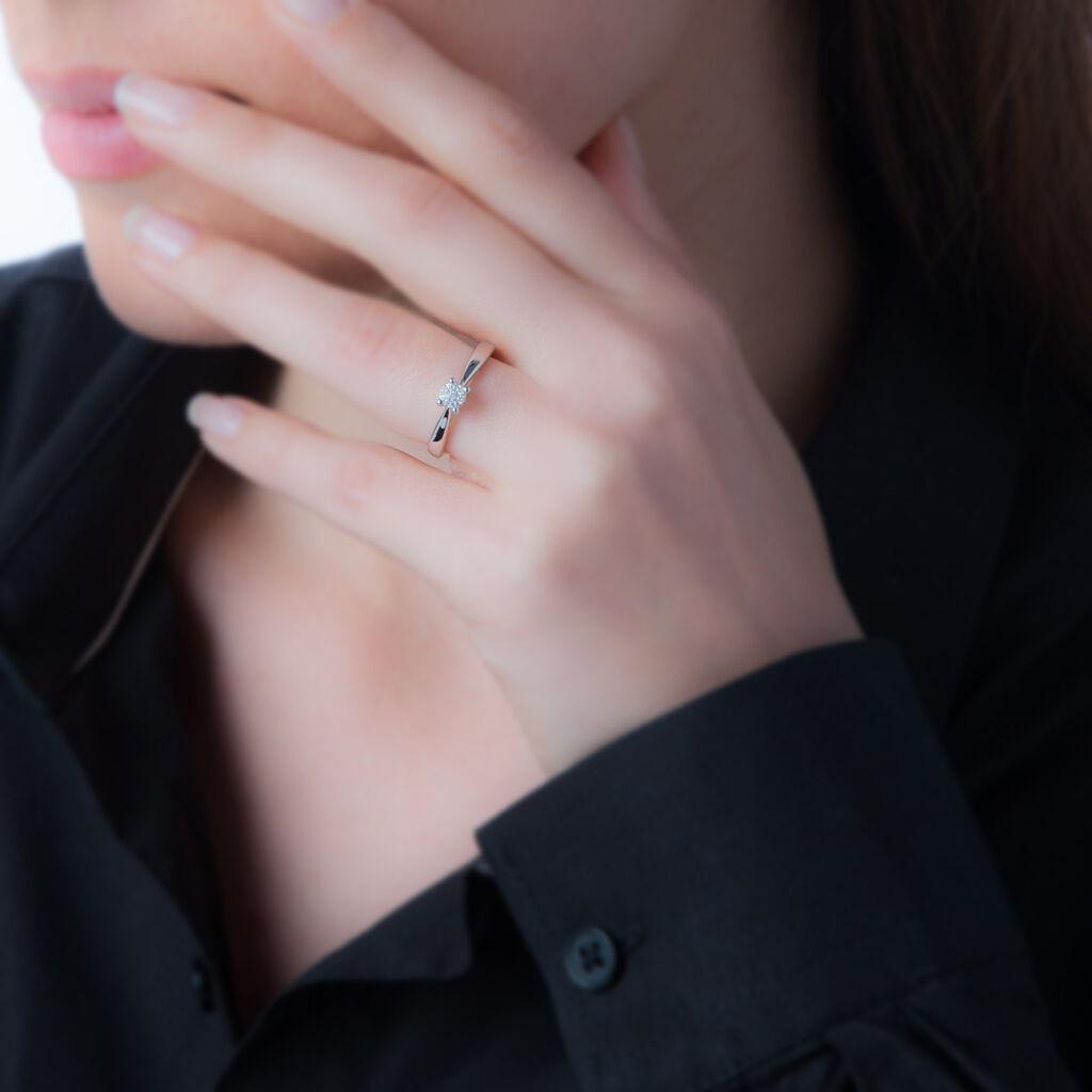 Bague Solitaire Grace Or Blanc Diamant - Bagues solitaires Femme | Histoire d'Or