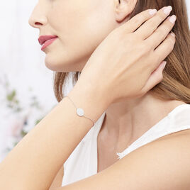 Bracelet Angeles Argent Blanc Oxyde De Zirconium - Bracelets Coeur Femme   Histoire d'Or