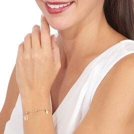 Charms Levanah Or Jaune Oxyde De Zirconium - Pendentifs Main de Fatma Femme | Histoire d'Or