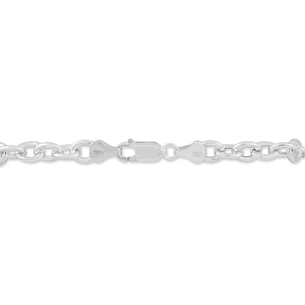 Bracelet Carola Maille Jaseron Argent Blanc - Bracelets chaîne Femme | Histoire d'Or