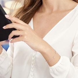 Bracelet Amarylis Argent Blanc - Bracelets fantaisie Femme | Histoire d'Or