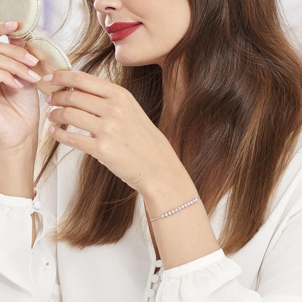 Bracelet Melaneae Argent Blanc - Bracelets fantaisie Femme   Histoire d'Or