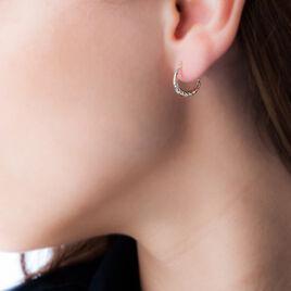 Créoles Rosaura Fil Bombe Or Tricolore - Boucles d'oreilles créoles Femme | Histoire d'Or