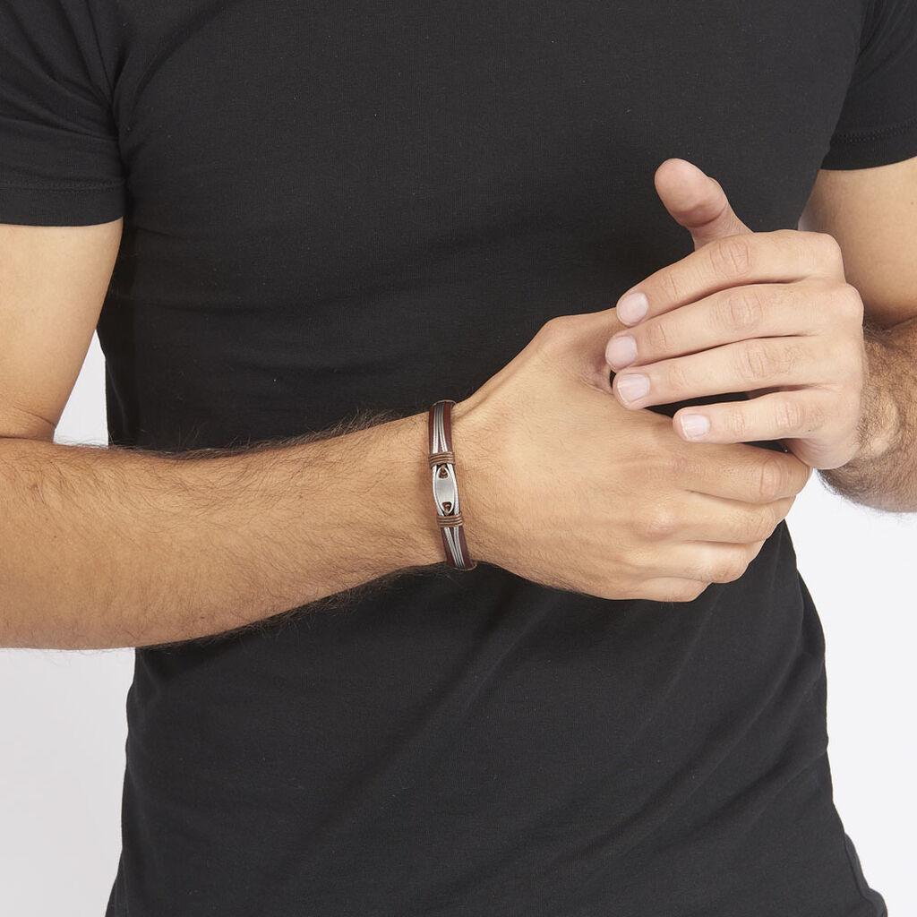 Bracelet Orell Acier Blanc - Bracelets fantaisie Homme | Histoire d'Or