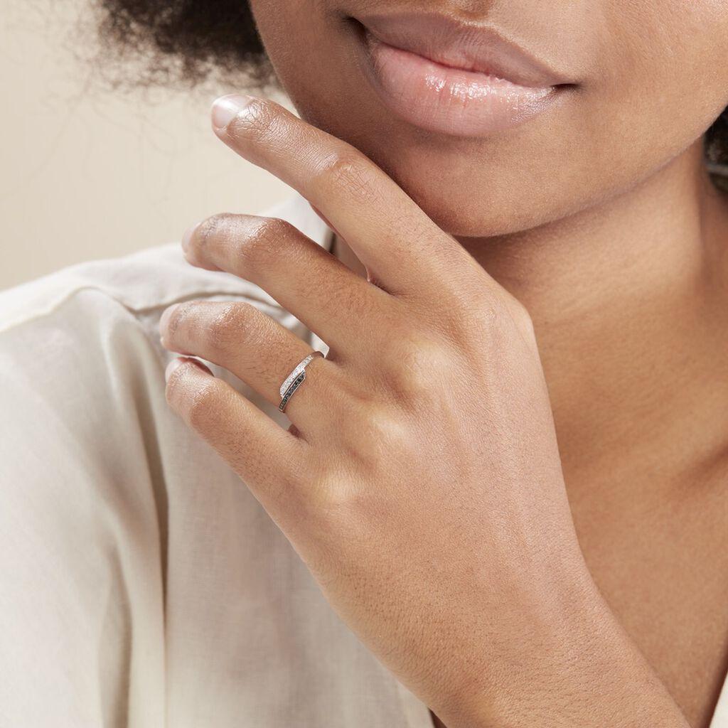 Bague Nazima Or Blanc Diamant - Bagues avec pierre Femme | Histoire d'Or