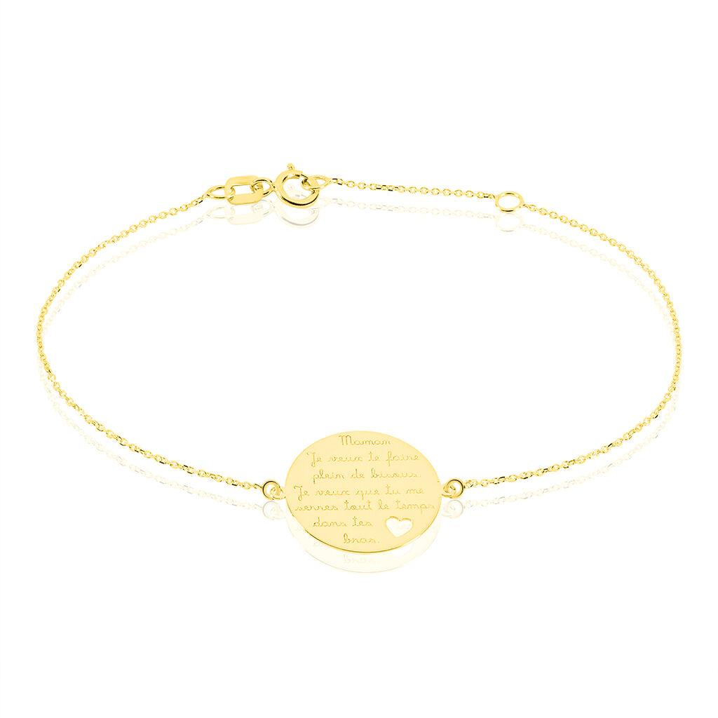 Bracelet Kenza Message Or Jaune - Bijoux Femme   Histoire d'Or