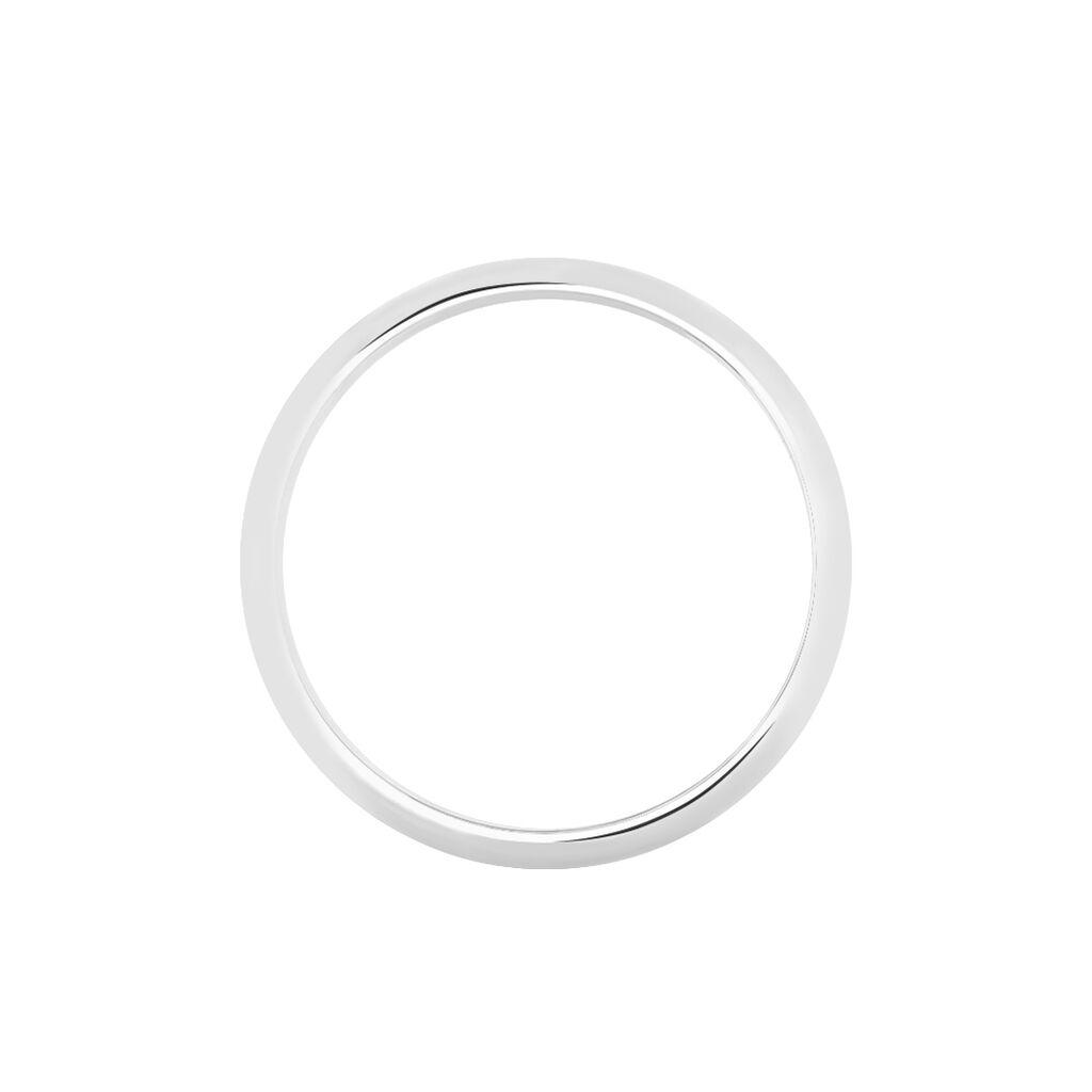 Alliance Athena Demi Jonc Classique Palladium Blanc - Alliances Homme | Histoire d'Or