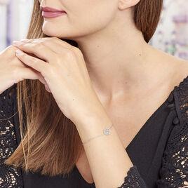 Bracelet Aelaig Argent Blanc - Bracelets Coeur Femme | Histoire d'Or