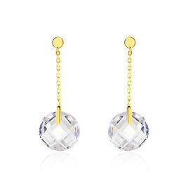 Boucles D'oreilles Pendantes Ludmille Or Jaune Oxyde - Boucles d'oreilles pendantes Femme   Histoire d'Or