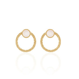 Bijoux D'oreilles Linna Plaque Or Jaune Pierre De Lune - Ear cuffs Femme | Histoire d'Or