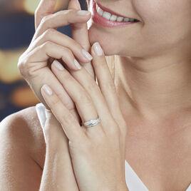 Bague Pensee Or Blanc Diamant - Bagues avec pierre Femme | Histoire d'Or