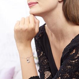 Bracelet Argent Rhodie Evyna Charms Lune - Bracelets Lune Femme | Histoire d'Or