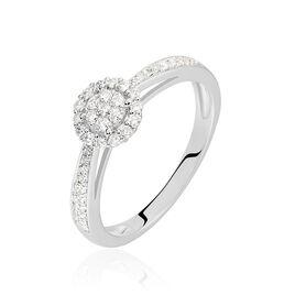 Bague Liah Or Blanc Diamant - Bagues avec pierre Femme | Histoire d'Or