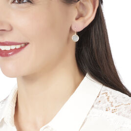 Boucles D'oreilles Puces Cemre Or Jaune Aigue Marine - Boucles d'oreilles pendantes Femme   Histoire d'Or
