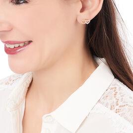 Boucles D'oreilles Puces Telma Plaque Or Jaune Oxyde De Zirconium - Boucles d'Oreilles Coeur Femme | Histoire d'Or