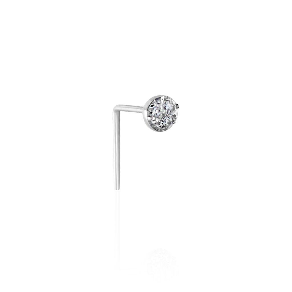 Piercing De Nez Demetrie Or Blanc Diamant - Bijoux Femme | Histoire d'Or