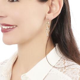 Boucles D'oreilles Pendantes Indi Plaque Or Jaune - Boucles d'oreilles fantaisie Femme   Histoire d'Or