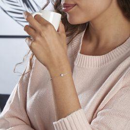 Bracelet Kadidia Or Blanc Oxyde De Zirconium - Bijoux Femme   Histoire d'Or