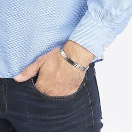 Bracelet Patrice Acier Blanc - Bracelets fantaisie Homme | Histoire d'Or