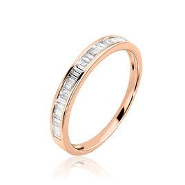 Bague Clemence Or Rose Diamant - Bagues avec pierre Femme   Histoire d'Or