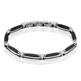 Bracelet Kevin Acier Blanc Oxyde De Zirconium - Bracelets fantaisie Homme   Histoire d'Or