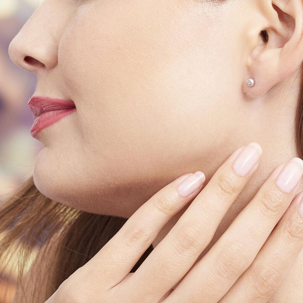 Boucles D'oreilles Puces Aurore Argent Blanc - Boucles d'oreilles fantaisie Femme | Histoire d'Or