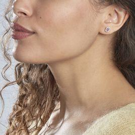 Boucles D'oreilles Puces Aladin Argent Blanc Oxyde De Zirconium - Boucles d'oreilles fantaisie Femme | Histoire d'Or