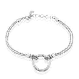 Bracelet Magda Argent Blanc - Bracelets fantaisie Femme   Histoire d'Or