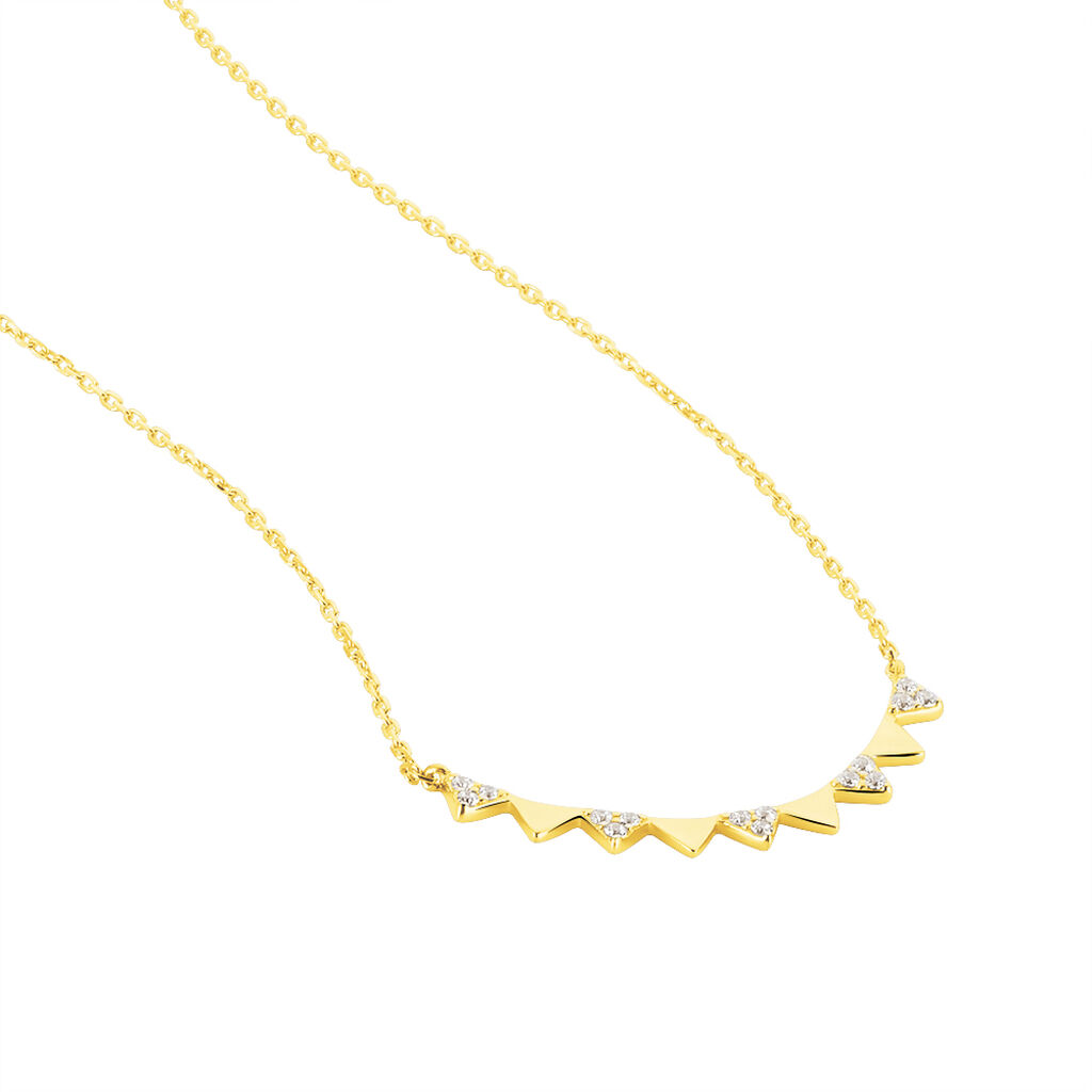 Collier Albanne Or Jaune Oxyde De Zirconium - Bijoux Femme | Histoire d'Or