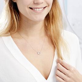 Collier Magou Argent Blanc Oxyde De Zirconium - Colliers fantaisie Femme | Histoire d'Or
