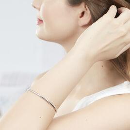 Bracelet Jonc Tabata Argent Blanc - Bracelets fantaisie Femme | Histoire d'Or