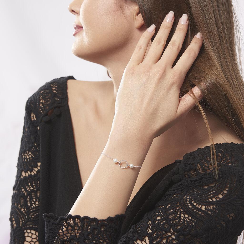 Bracelet Oria Argent Blanc Pierre De Synthese - Bracelets fantaisie Femme | Histoire d'Or