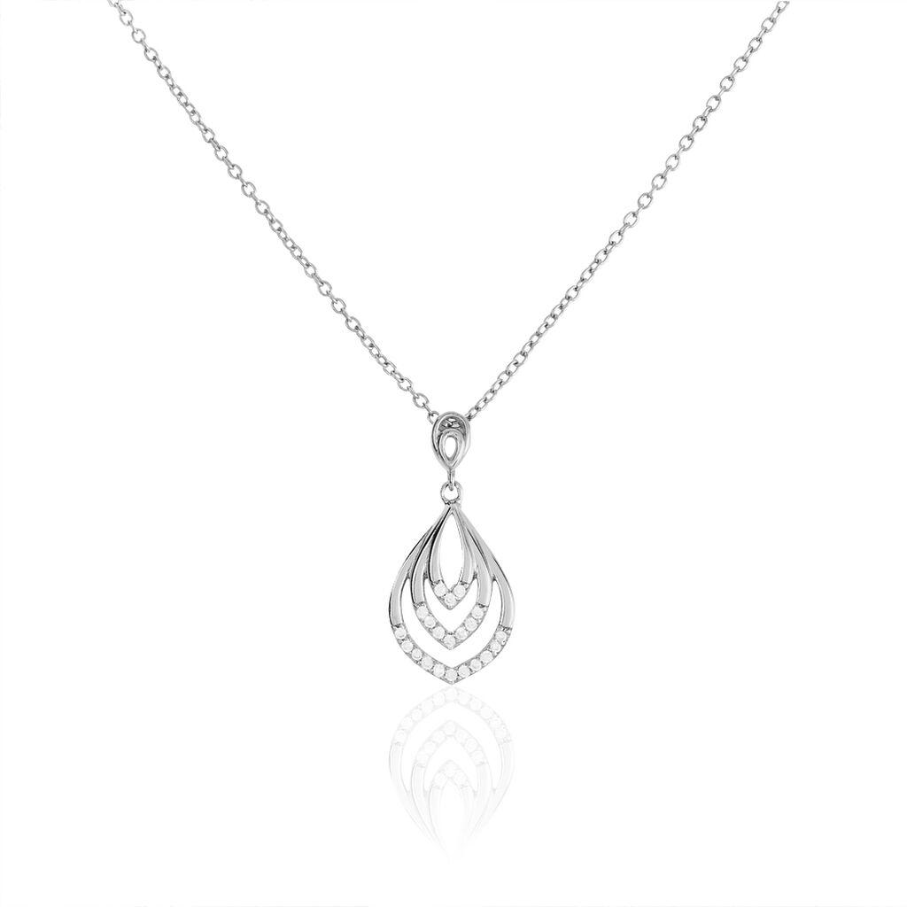 Collier Lana Argent Blanc Oxyde De Zirconium - Colliers fantaisie Femme | Histoire d'Or