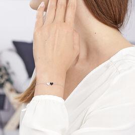Bracelet Clementine Argent Blanc Oxyde De Zirconium - Bracelets Coeur Femme   Histoire d'Or