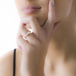 Bague Ashmitha Or Bicolore Oxyde De Zirconium - Bagues avec pierre Femme | Histoire d'Or