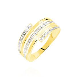 Bague Eleonore Or Jaune Diamant - Bagues avec pierre Femme   Histoire d'Or