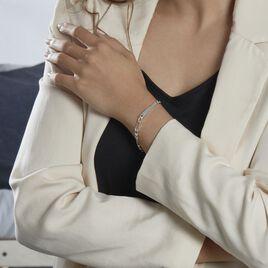 Bracelet Identité Mathea Argent Blanc - Bracelets fantaisie Femme | Histoire d'Or