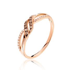 Bague Edem Or Rose Diamant - Bagues avec pierre Femme | Histoire d'Or