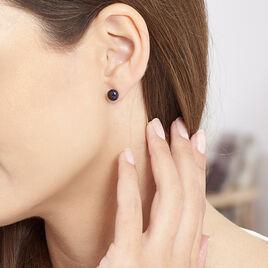 Boucles D'oreilles Puces Micaelle Teintees Or Jaune Perle De Culture - Clous d'oreilles Femme | Histoire d'Or