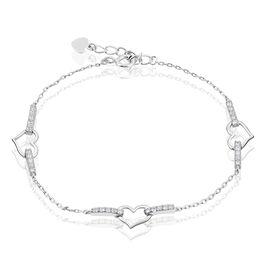 Bracelet Triple Argent Blanc Oxyde De Zirconium - Bracelets fantaisie Femme   Histoire d'Or