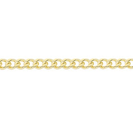 Chaîne Ixia Maille Gourmette Diamantee Or Jaune - Chaines Unisexe   Histoire d'Or