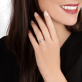 Bague Hebe Or Blanc Diamant - Bagues Etoile Femme | Histoire d'Or